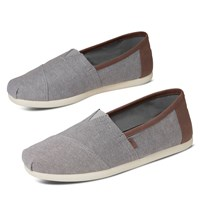 Men's Classic Vegan Slip-ons in Grey Denim