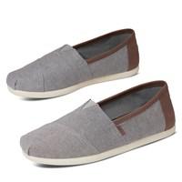 Chaussures Classic Vegan Slip-ons denim gris pour hommes
