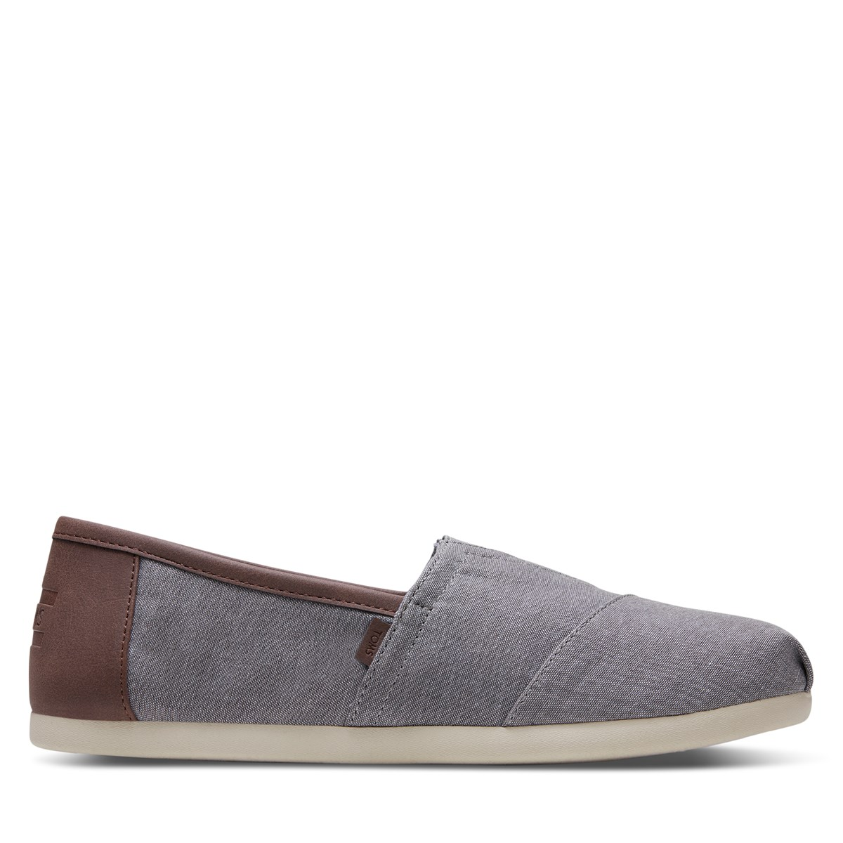 Men's Alpargata Synthetic Trim Slip-Ons in Denim Grey