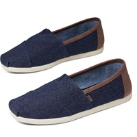 Men's Classic Vegan Slip-ons in Blue Denim