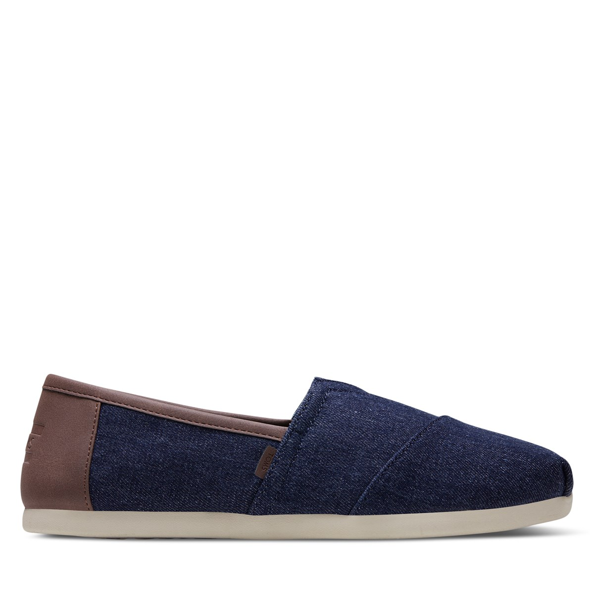 Men's Alpargata Synthetic Trim Slip-Ons in Denim Blue