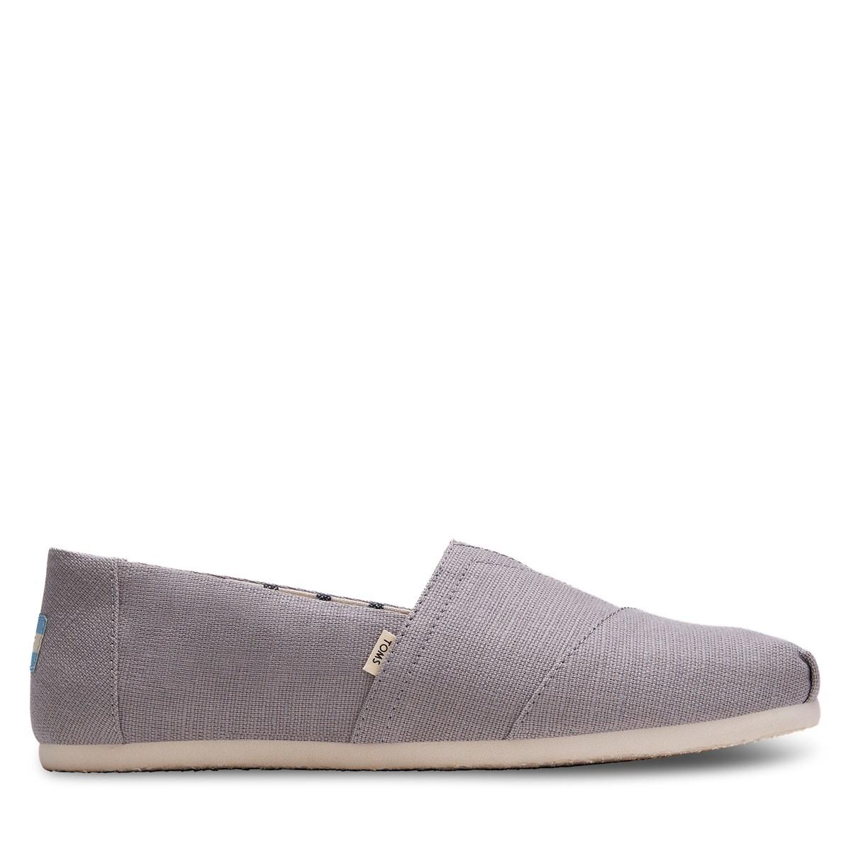 Men's Alpargata Slip-Ons in Grey