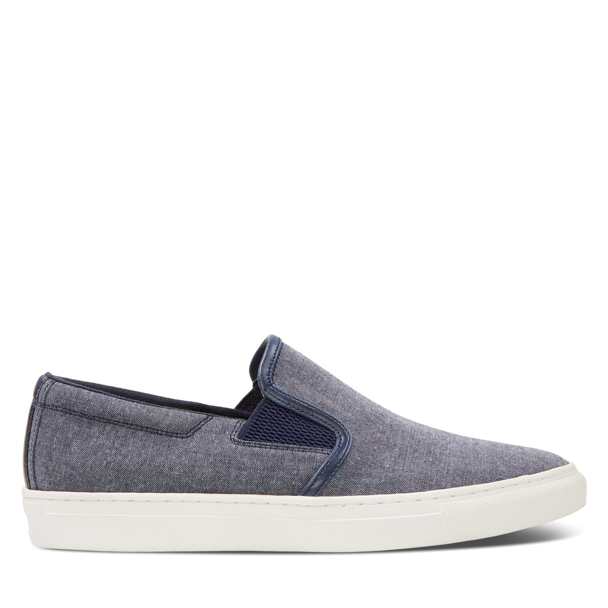 Men's Remy Slip-On Shoes in Blue Chambray
