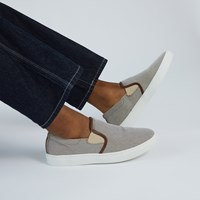 Men's Remy Slip-On Shoes in Beige Chambray