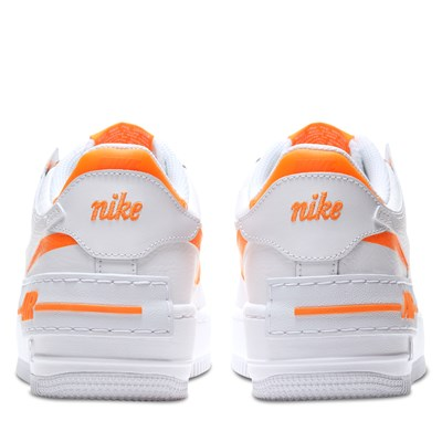 Women S Air Force 1 Shadow Sneakers In White Little Burgundy Nike's air force 1 shadow se in summit white/team orange/psychic blue retails for $110 usd, which you can now cop via the sportswear giant's web store. women s air force 1 shadow sneakers in white