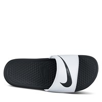 Women's Benassi Swoosh Slides in White
