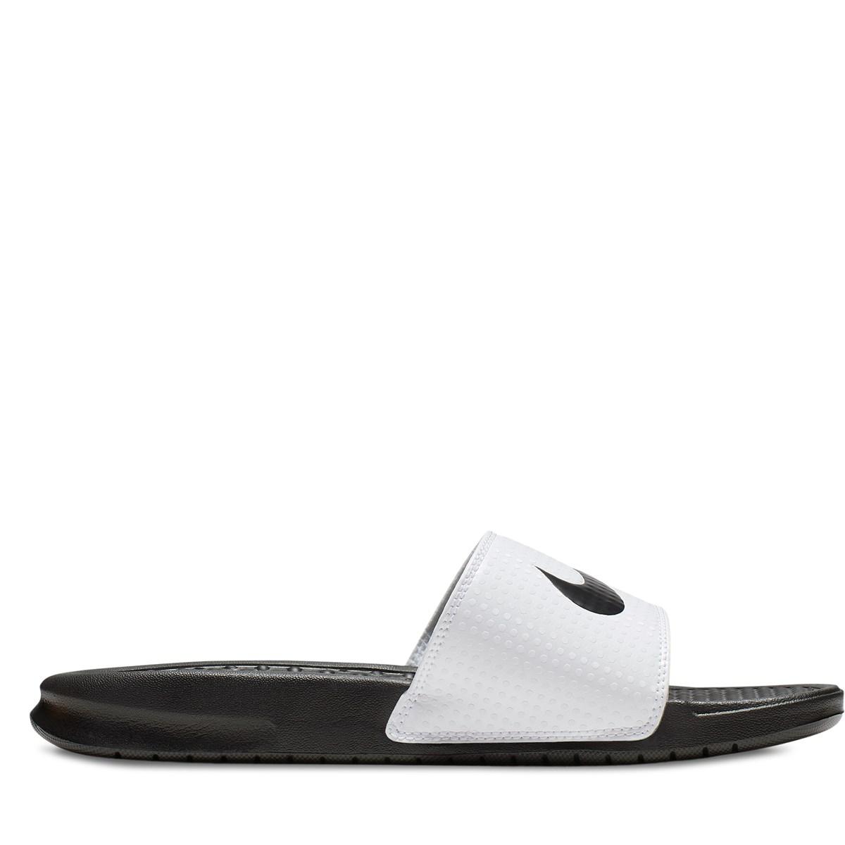 Women's Benassi Swoosh Slides in White