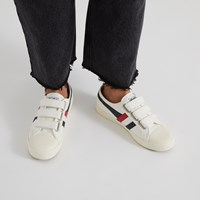 Women's Coaster Velcro Sneakers in White