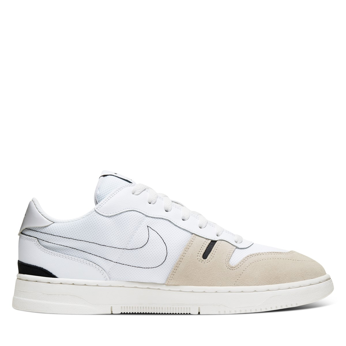 Men's Squash Type Sneakers in White