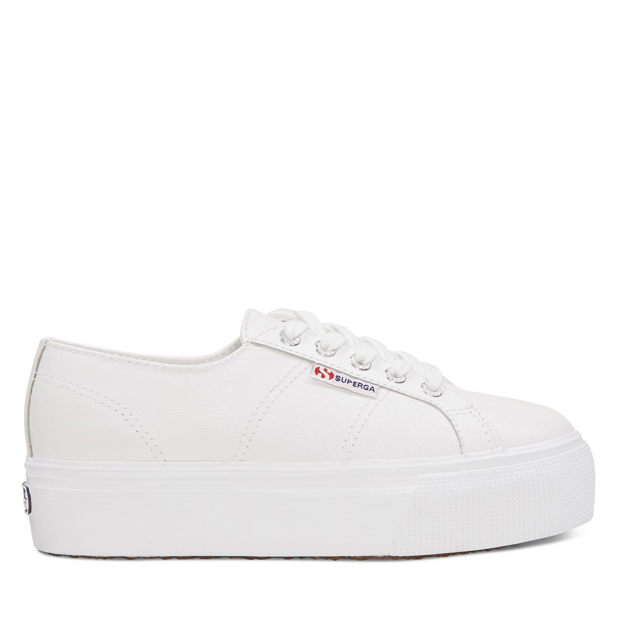 Women's 2790 Leather Platform Sneakers in White