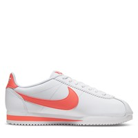 Women's Cortez Sneakers in White/Red