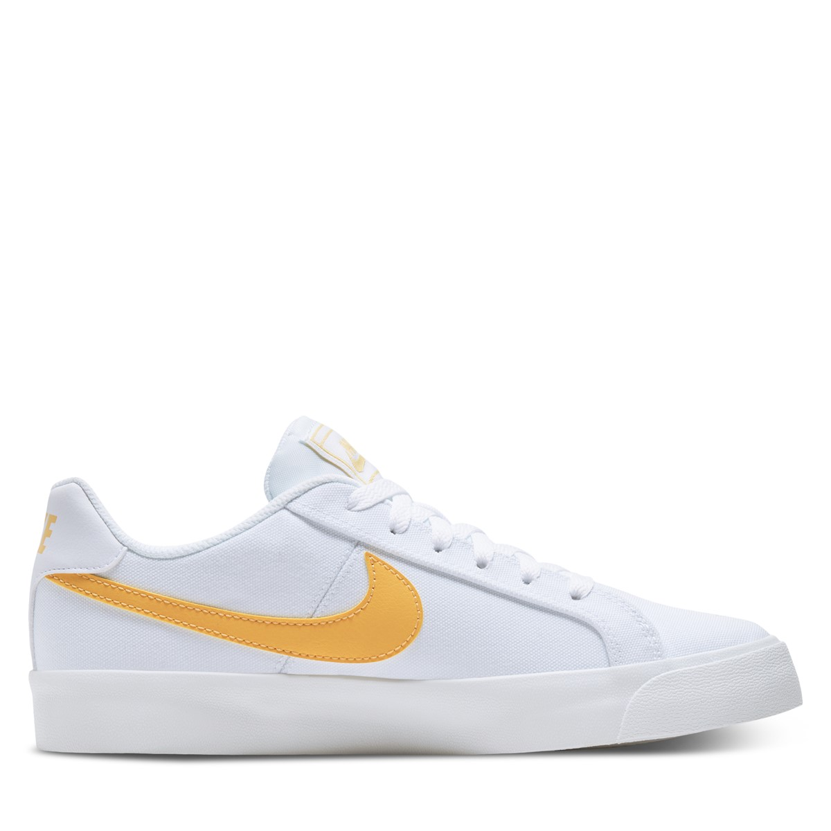 Women's Court Royale AC Sneakers in White/Orange