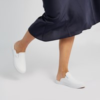 Baskets-mules SF Slip-Ons blanches pour femmes