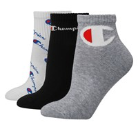 Women's 3 Pair Pack of Multi Logo Ankle Socks