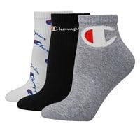 Women's 3 Pair Pack of Multi Logo Ankle Socks