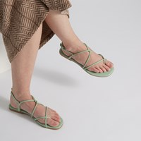 Women's Wren Strapped Sandals in Mint Green