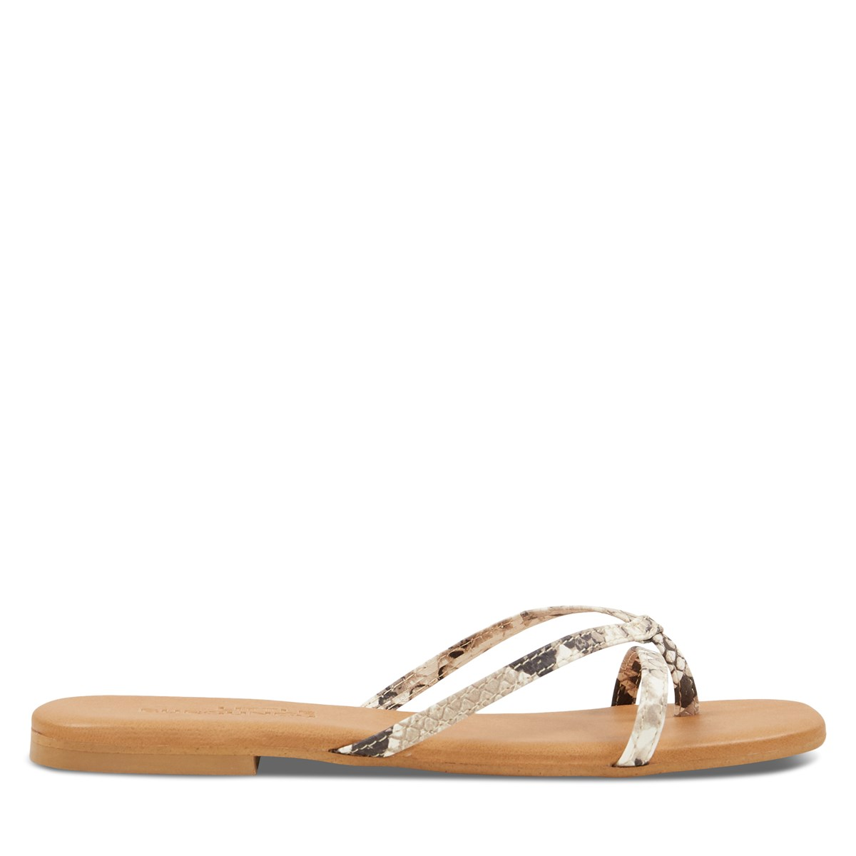 Women's Stella Slip-On Flat Sandals in Snakeskin