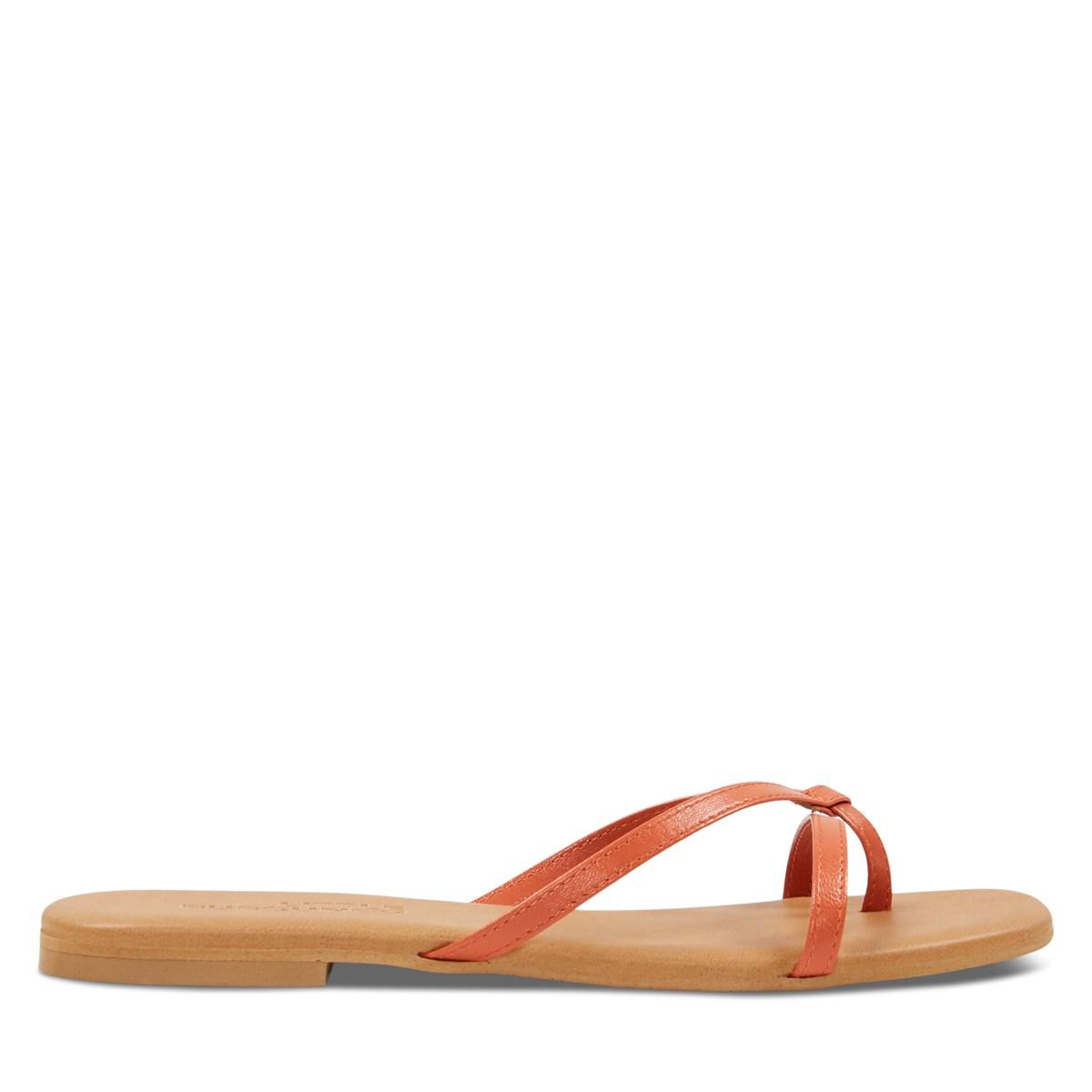 Women's Stella Slip-On Flat Sandals in Orange