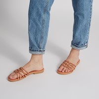 Women's Kim Slip-On Sandals in Peach