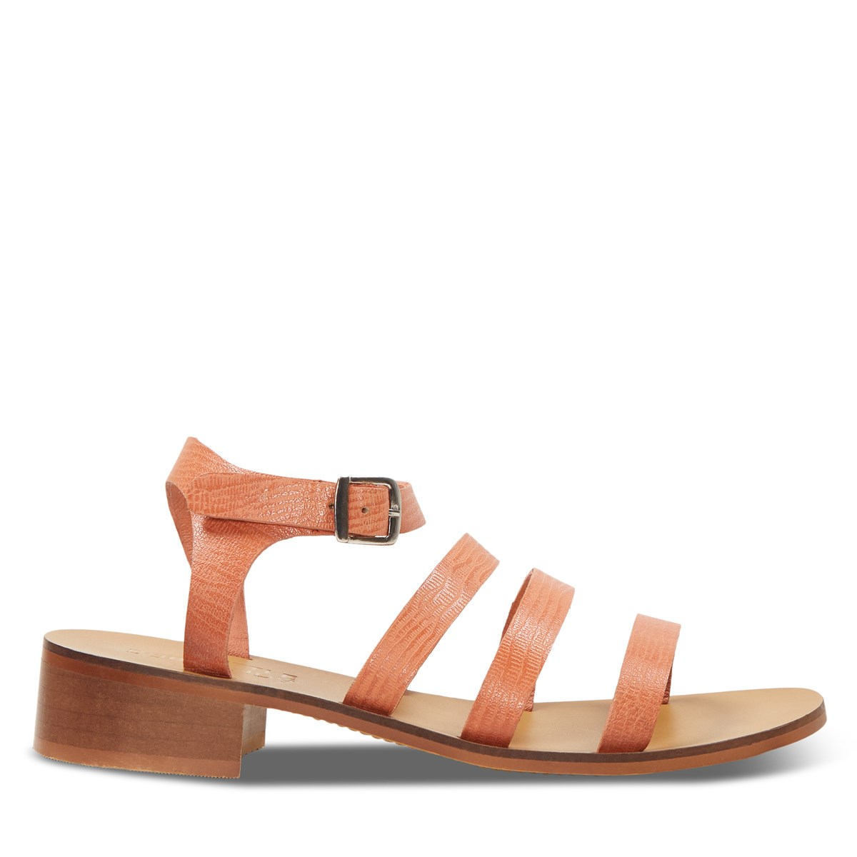 Women's Sadie Heeled Strapped Sandals in Peach
