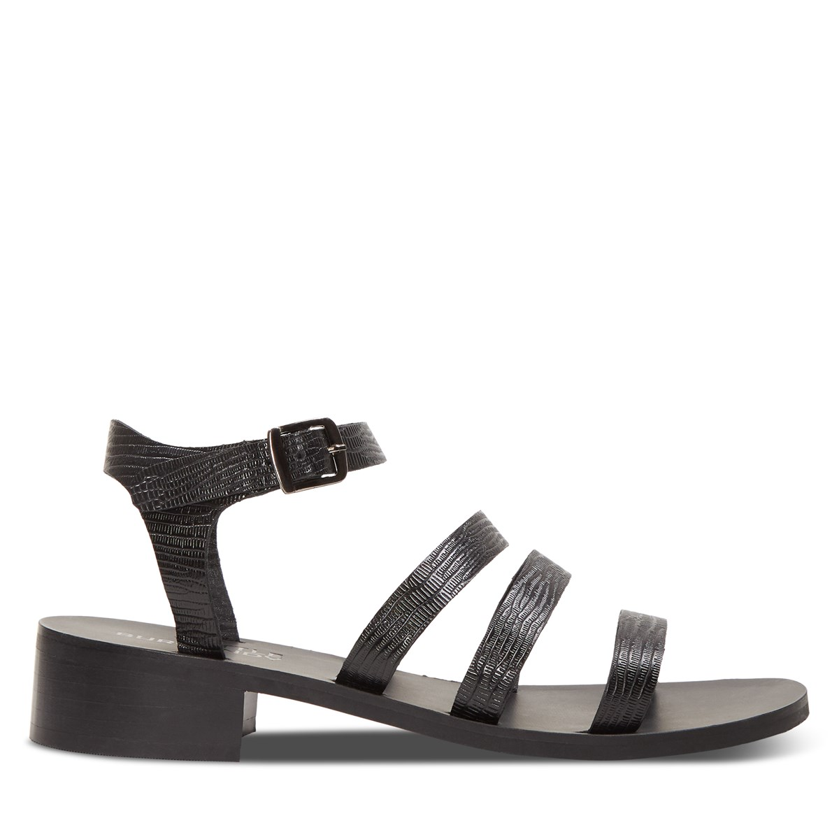 Women's Sadie Heeled Strapped Sandals in Black