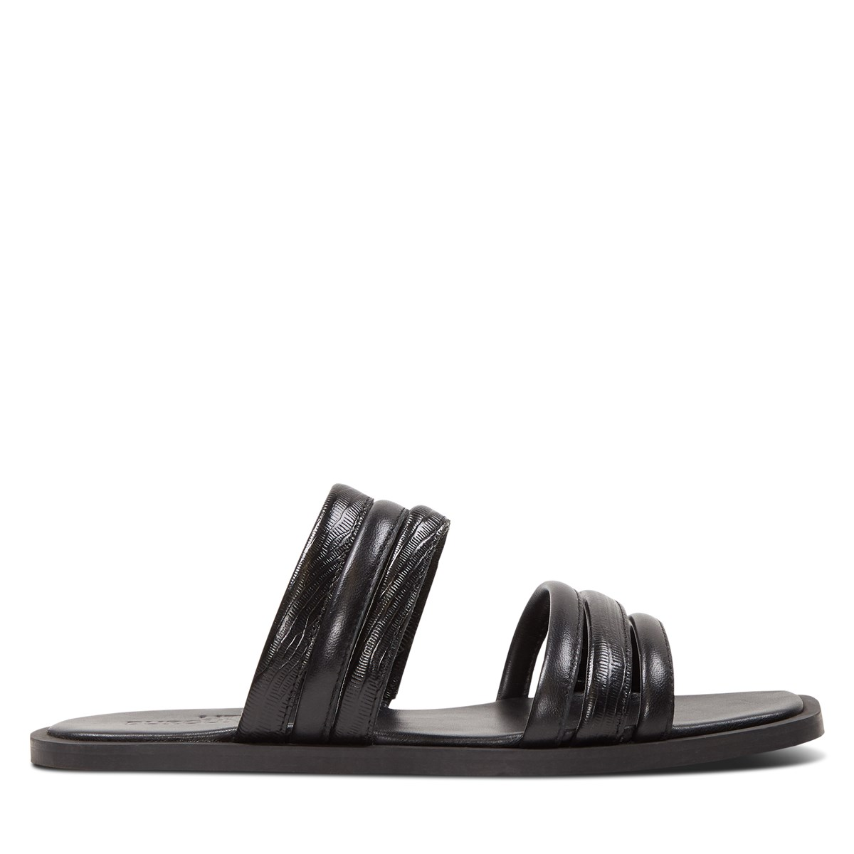Women's Alicia Slip-On Flat Sandals in Black
