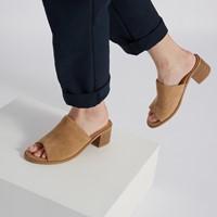 Sandales à talon Olivia beiges pour femmes