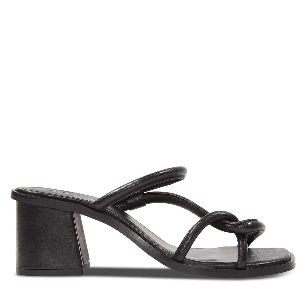 Women's Amelie Heeled Strapped Sandals in Black