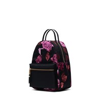 Nova Mini Roses Backpack in Black