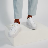 Women's Sleek Super Sneakers in White