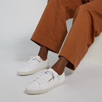 Women's Sleek Low Sneakers in White