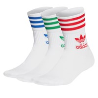Mid Cut Crew Socks in White