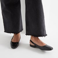 Women's Nadia Flat Sandals in Black