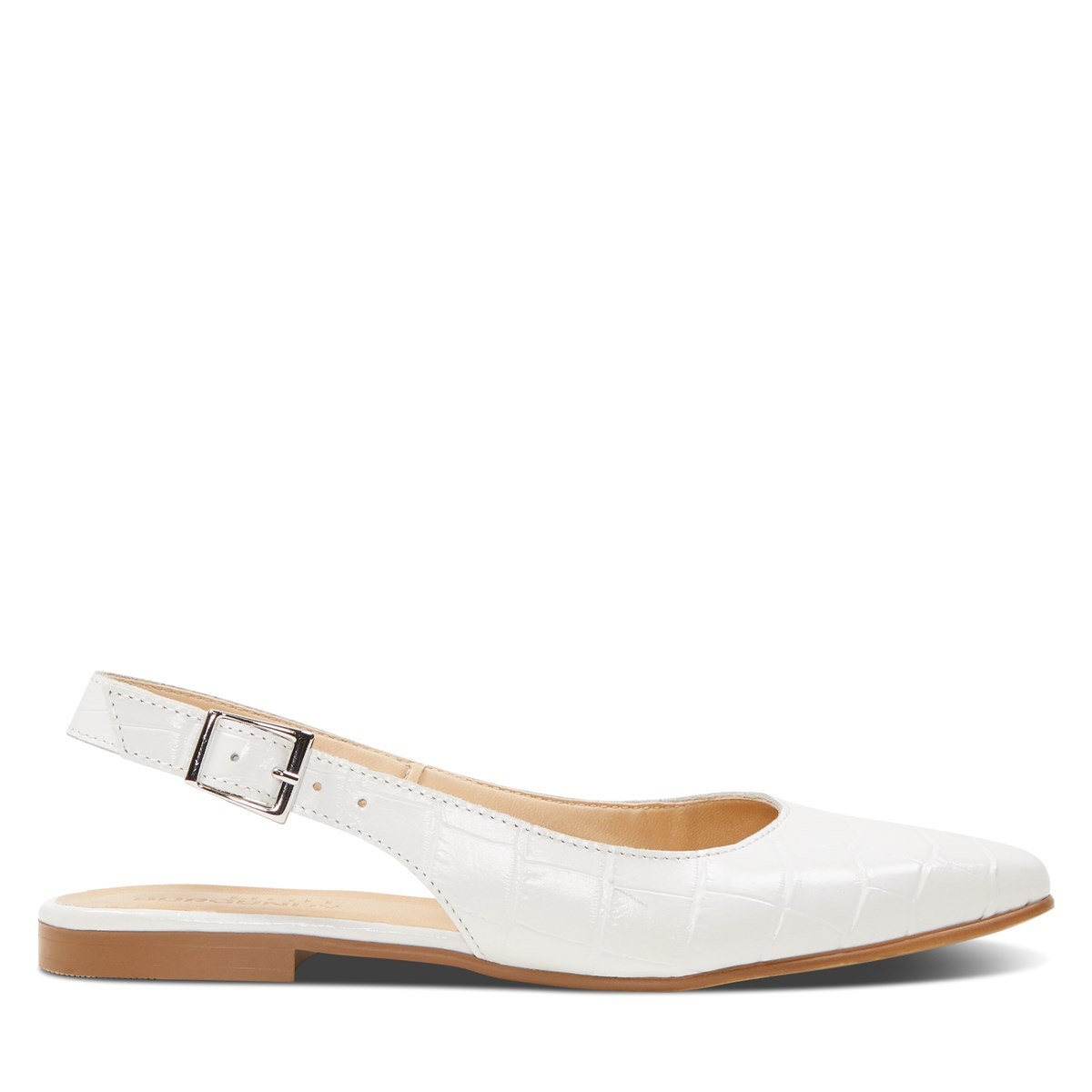 Women's Nadia Flat Sandals in White