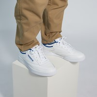 Men's Club C 35th Anniversary Sneakers in White/Blue