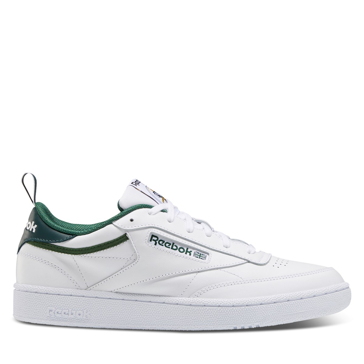 Men's Club C 35th Anniversary Sneakers in White/Green