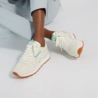 Women's Classic Leather Sneakers in Off-White