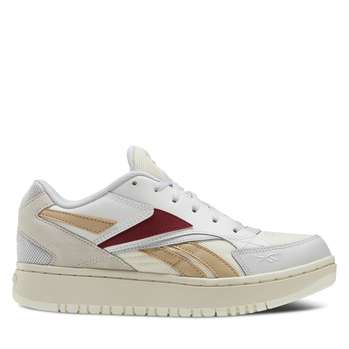 Women's Court Double Mix Sneakers in Off-White