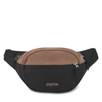 Fifth Avenue Suede Fanny Pack in Black