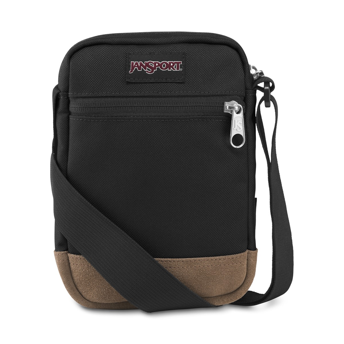 Weekender Suede Crossbody Bag in Black