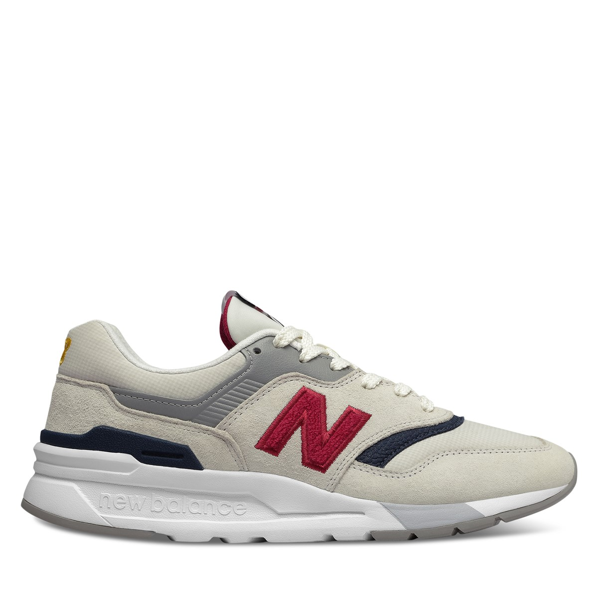Women's 997H Sneakers in Off-White/Navy/Red