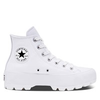 Women's Chuck Taylor Hi Lugged Leather Sneakers in White