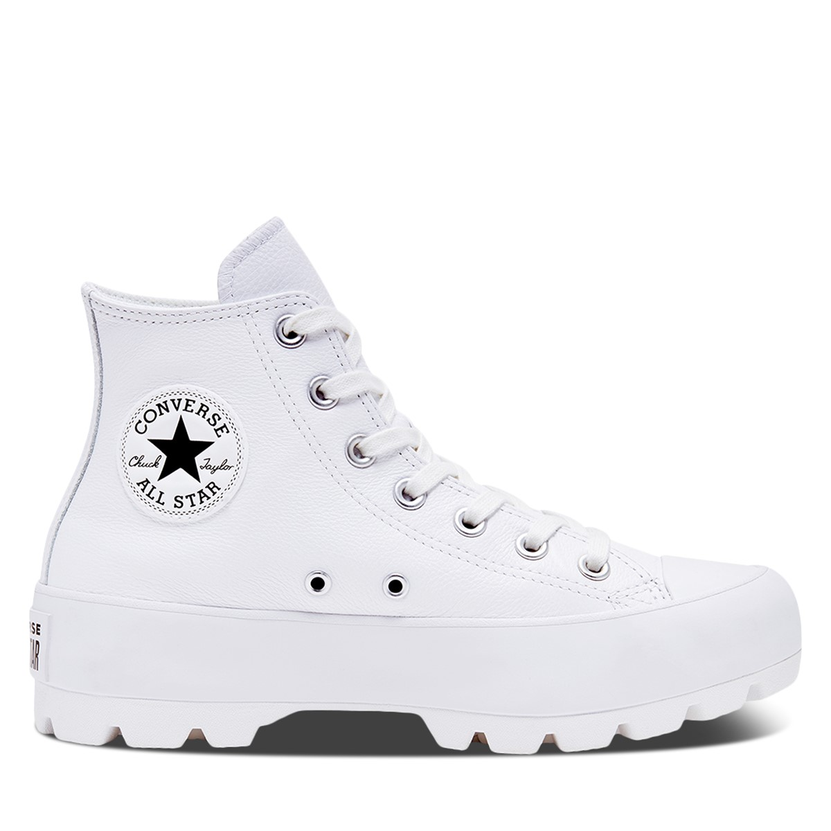 Baskets Chuck Taylor Hi Lugged Leather blanches pour femmes