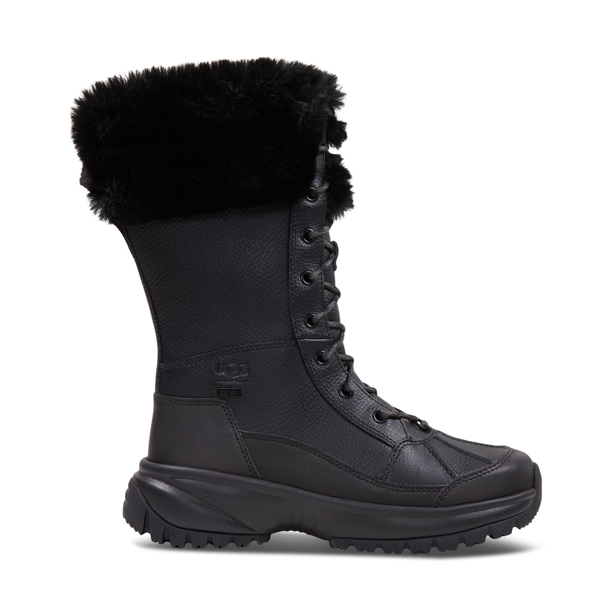 Women's Yose Tall Fluff Boots in Black