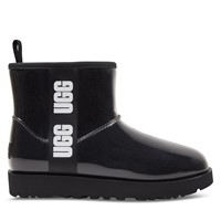 Women's Clear Mini Boots in Black