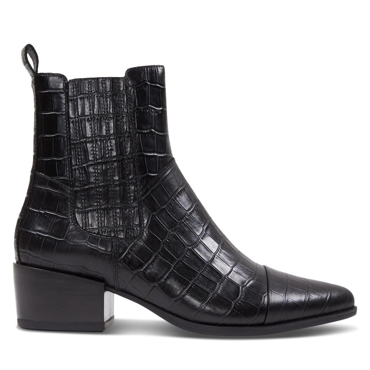 Women's Marja Toe Chelsea Boots in Black