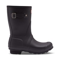 Women's Insulated Short Rain Boots in Black