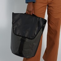 Transporter Flap Backpack in Black