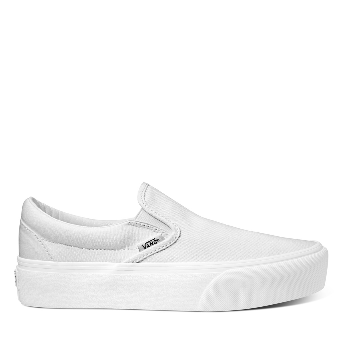 Women's Platform Slip-Ons in White