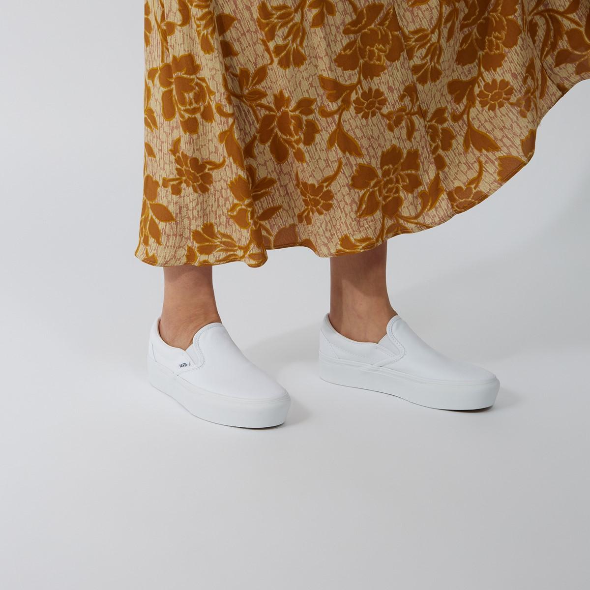 Women's Platform Slip-Ons in White